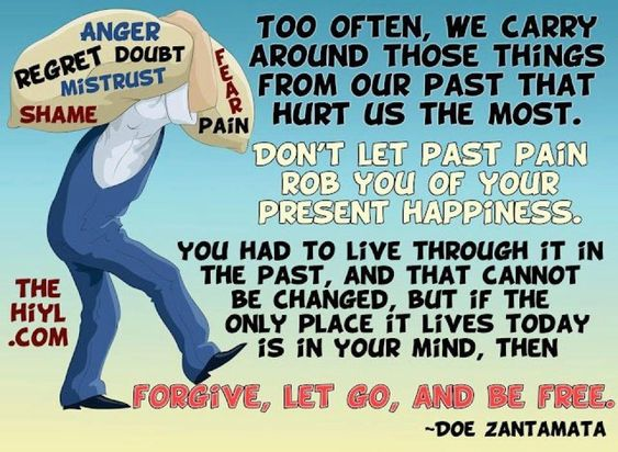 Don't let your past rob you!