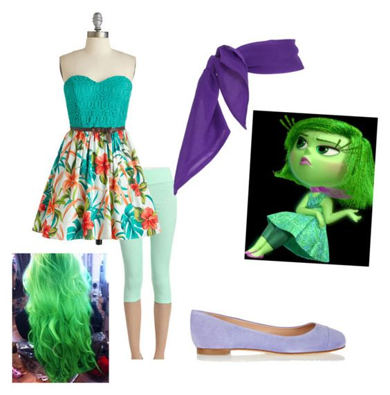 Disgust (Inside Out) by rileydodds on Polyvore featuring polyvore, beauty and Sergio Rossi