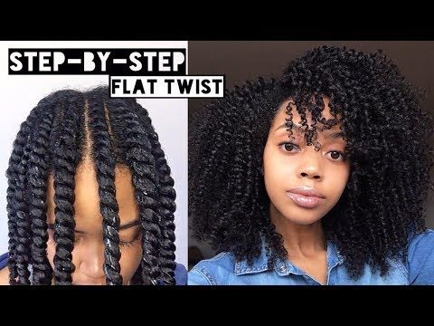 How To Flat Twist Out On Natural Hair Cool Calm Curly Youtube Flat Twist Hairstyles Natural Hair Twists Natural Hair Styles