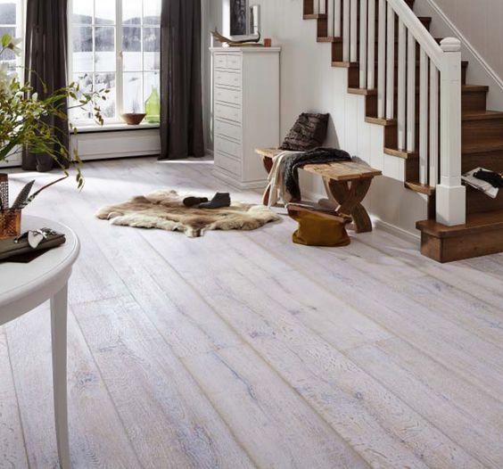 Lindura-Holzboden HD 300 Eiche rustikal white washed 8425 - pvc fliesen küche