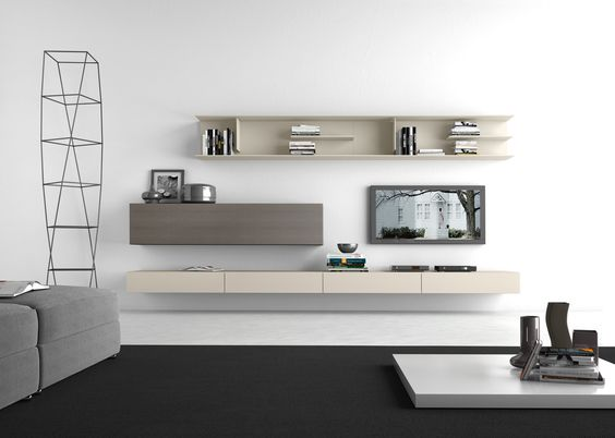 Sectional Wall Mounted TV Wall System I ModulArt   278 By Presotto  Industrie Mobili Design Pierangelo Sciuto | Tv Stand | Pinterest | Mounted  Tv Walls, ...