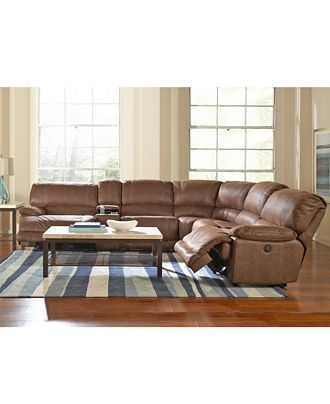 Jedd Fabric 6 Piece Power Reclining Sectional Sofa 2