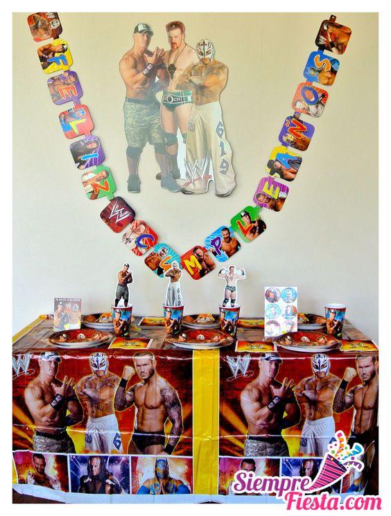 Art culos para fiesta de cumplea os con los luchadores de - Cosas para fiestas de cumpleanos ...