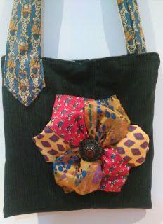 LOS DETALLES DE CONXI: Bolso hecho a mano con tejanos y corbatas .
