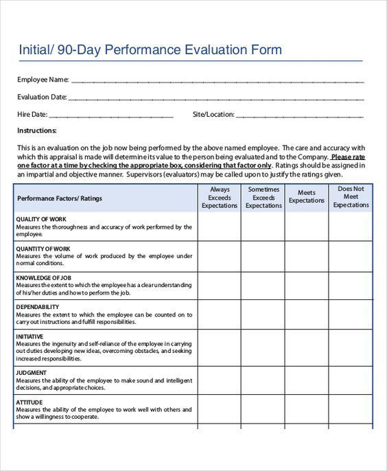 You Could Use This Employee Performance Evaluation Sample Employee Performance Review Employee Evaluation Form Evaluation Employee