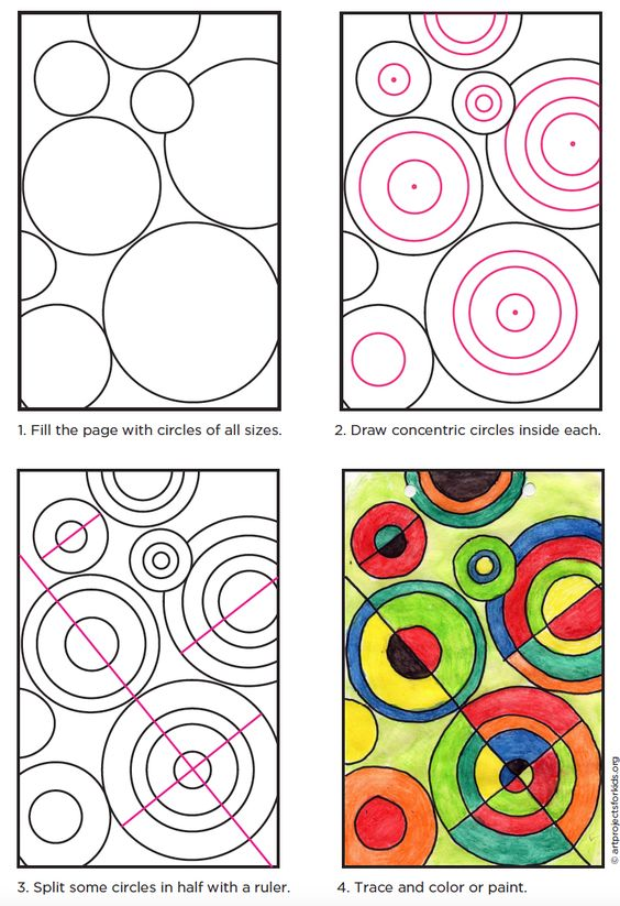 Delaunay Circle Project · Art Projects for Kids