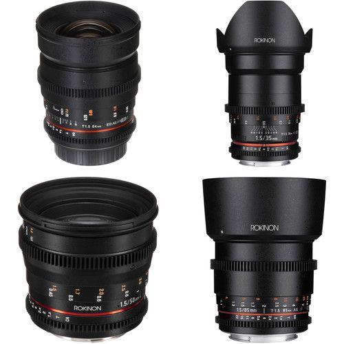 Rokinon 24 35 50 85mm T1 5 Cine Ds Lens Bundle For Canon Ef Mount Canon Lens Full Frame Sensor Canon Ef