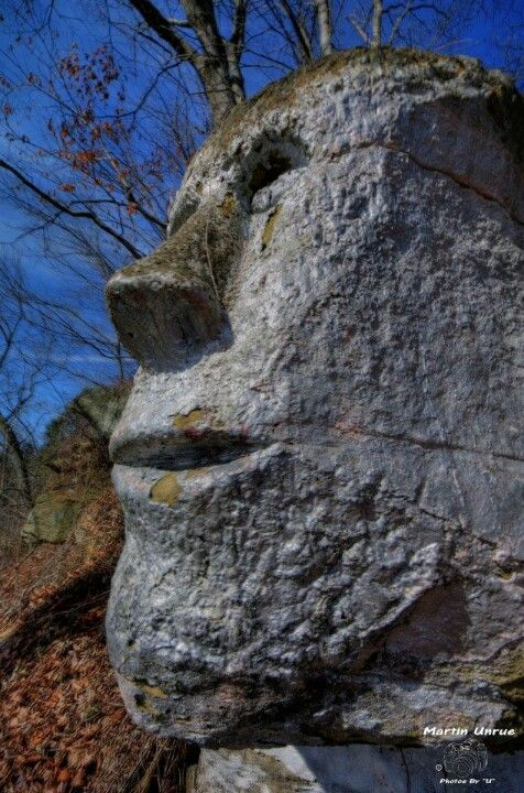 Stone man carving Jackson County, West Virginia