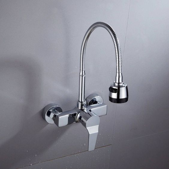 Details about  /2 Handles Waterfall Bath Tub Basin Mixer Vessel Sink Faucet Tap Wall Mounted