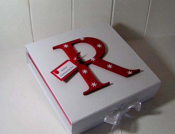One clever idea for how to decorate your Christmas Eve box! If you fancy decorating one yourself, you could get a wooden box from us and some wooden letters too. Get more DIY inspiration from www.craftmill.co.uk