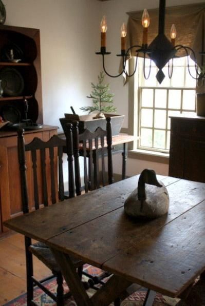 Dining Room Colonial Primitive Decor Pinterest Table