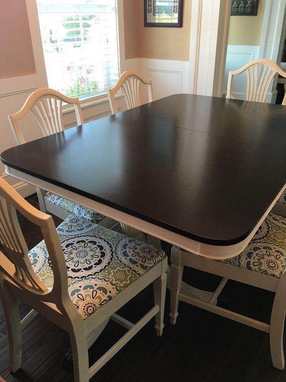 Java gel stain table