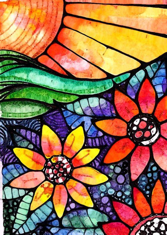 Pen and watercolor: Castel Watercolor, Beautiful Colors, Watercolor Pencil, Colors 3K8, Colors Robin