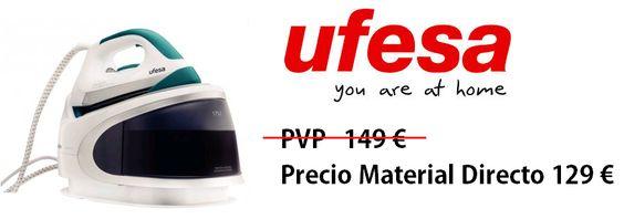 Aprovecha el tiempo para ti! Centros de plancha UFESA, más resultados en menos tiempo http://www.materialdirecto.es/es/centros-de-planchado/68821-ufesa-centro-plancha-pl-1500.html