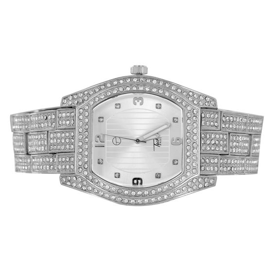 Mens Hip Hop Iced Out Watch Techno Pave Bling Rapper Classy