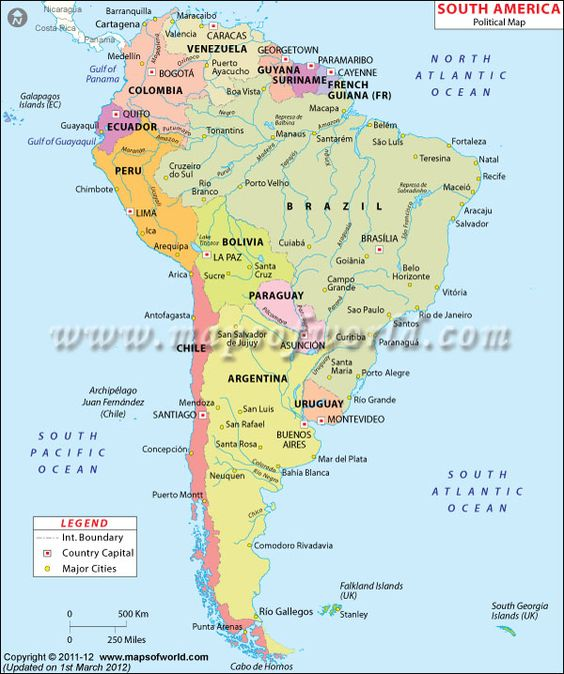 South America Map Maps Pinterest South america map South