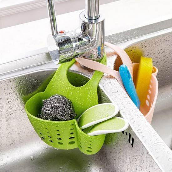 15 Kitchen Storage Ideas For Extra Space Kitchen Sponge Holder Kitchen Sponge Sink Faucets