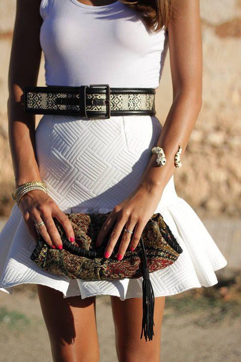 Mini Skirt With Ruffle  #