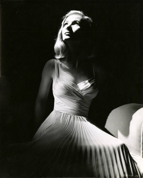 Veronica Lake 1940, photo by George Hurrell. (PIC 4) I love this image as the highlights and shadows are drastic, which gives a strong and dominant feel to the photo. Therefore making the women in the image important in some way. This is something I am going to consider in my own images as to portray the Hollywood actress as important and well known.