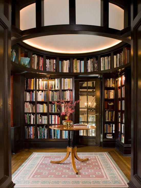 Cool Home Library: Terrific Ideas In Home Library Designs: Terrific Elegant