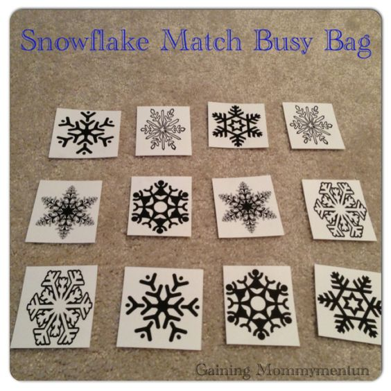 Snowflake Match-Up Busy Bag | Gaining Mommymentum