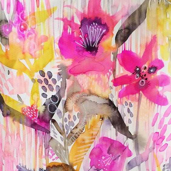 Loving the color around the city this spring. #dscolor #watercolor #fabricdesign #surfacepattern #dsstripes #watercolorfloral #floral