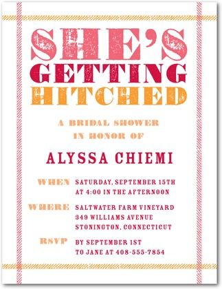 Bridal Shower Invite <3