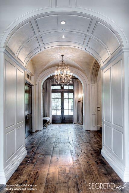 Segreto Secrets - Design Chic Love the arched doorway and beautiful hardwood floors