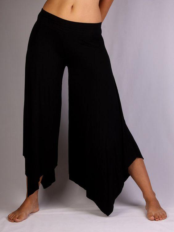 Point Wide Leg Pants in  Rayon Lycra - Dance wear, Yoga wear, Active wear, Casual wear