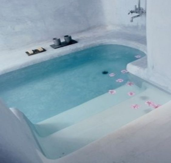Sunken bathtub. Make sure it fits two and has jets and this is perfect for our future master  suite