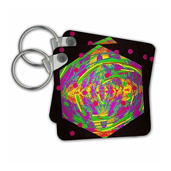 kc_244510 DYLAN SEIBOLD - PHOTO ABSTRACTION - PINK BUBBLE CUBE - Key Chains  3dRose  Link: