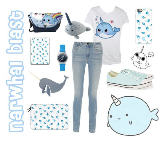 """""""Narwhal blast"""" by pibobelebeep ❤ liked on Polyvore featuring Casetify, CB2, Alexander Wang and Converse"""