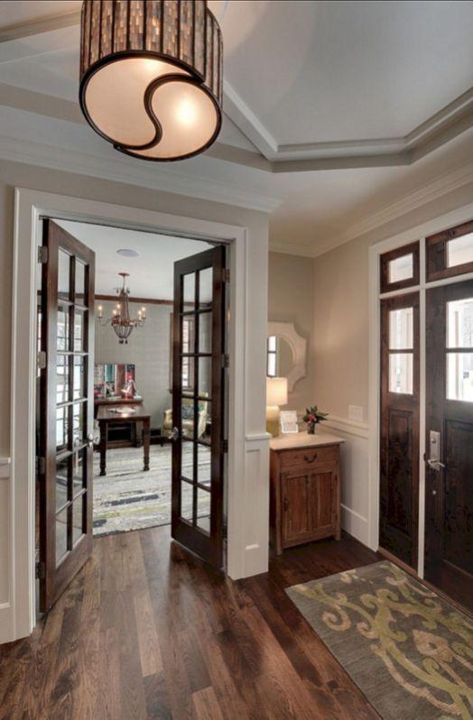 40 Marvelous White Trim With Stained Door Ideas Freshouz Com French Doors Interior Stained Doors Doors Interior