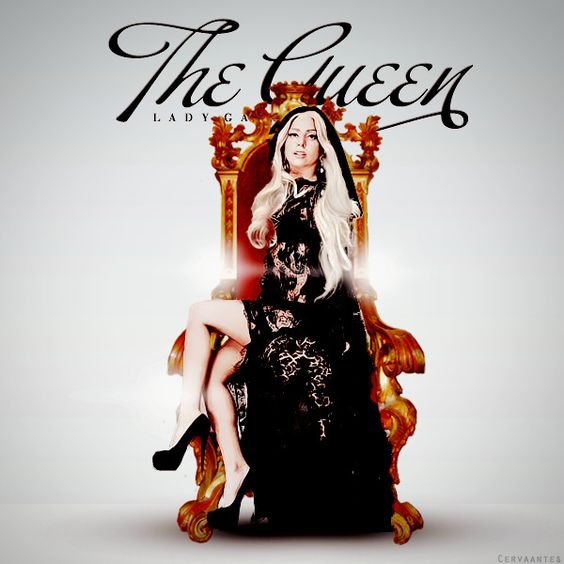 Lady Gaga – The Queen (single cover art)
