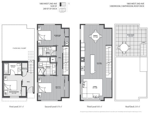The four level luxury kits blanc vancouver modern Luxury townhouse floor plans