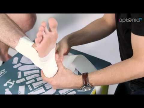 Comment faire un strapping de la cheville - APTONIA