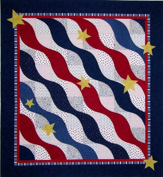 Quilts of Valor, Wave Quilt Pattern by The Sweet Tea Girls!: