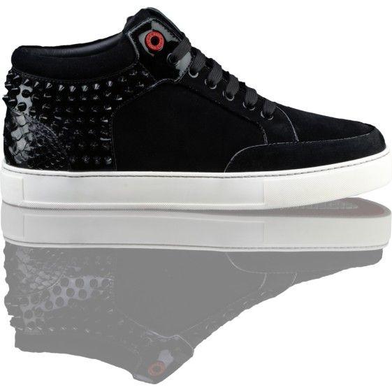 Royaums Herren Designer Schuh in schwarz