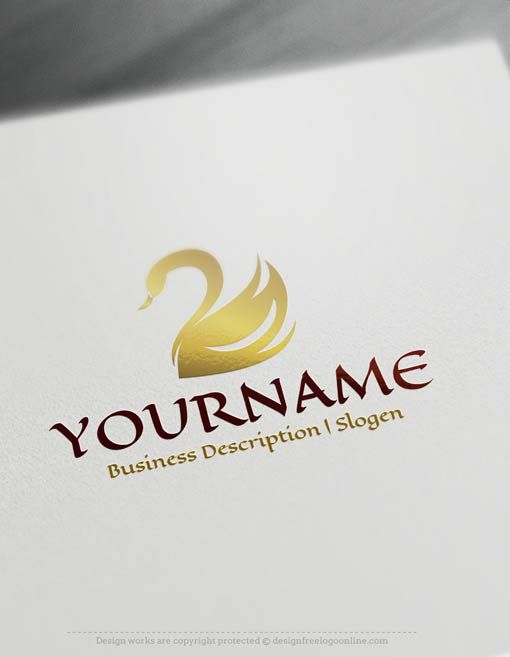 Online Gold Swans Logos Black Swan Logo Templates Swan Logo