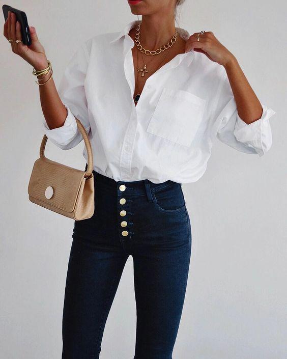 10 простых белых блузок, которые сделают образ безупречным | ladyline.me | Яндекс Дзен