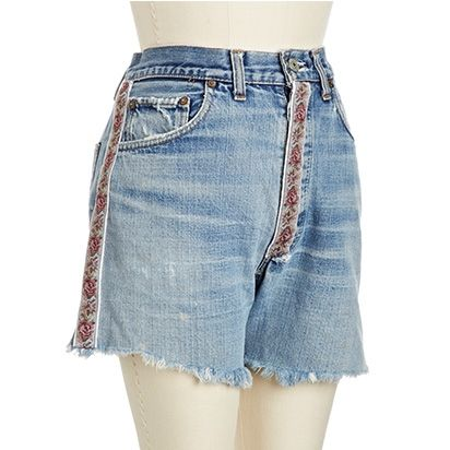 Tapestry Denim Cutoffs, $49