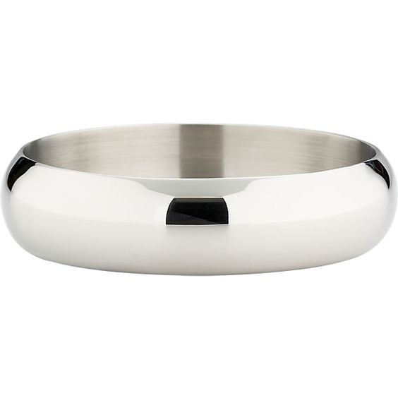 CB2 - Shiny Stainless Steel Wine Coaster