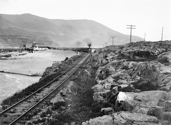 railroads | westbound train rounds a bend on the oregon shore of the columbia ...