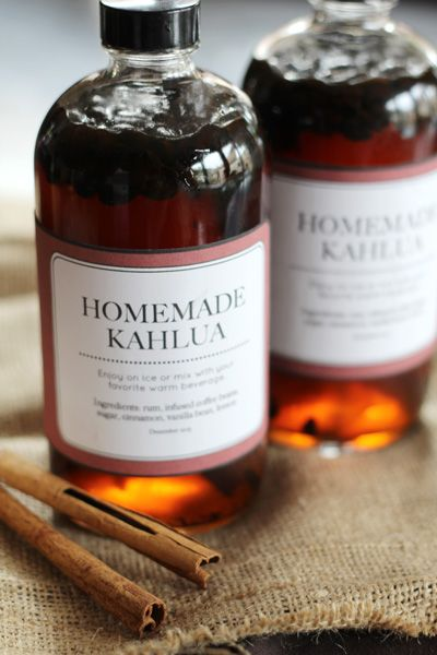 Diy Homemade Kahlua With Printable Labels