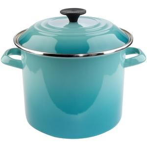 Le Creuset stock pot!  That Color Is Beautiful!!