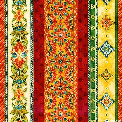 Anastasia - Winter Palace Stripe - Cerise/Gold