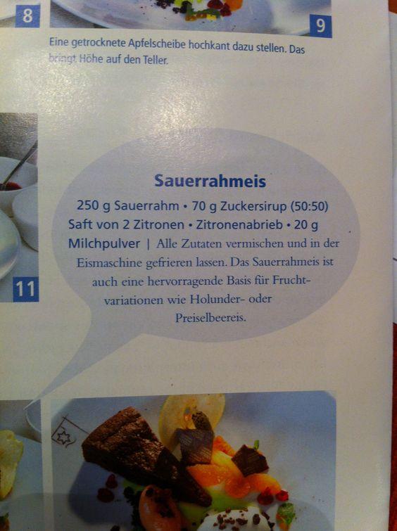 Sauerrahm-Eis