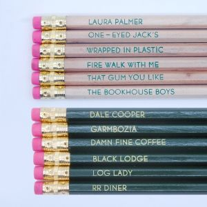 I just bought Twin Peaks Pencil Set from One Up Designs on sneakpeeq!