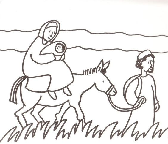flight into egypt coloring pages - photo#15