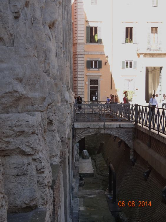 Ancient alley under city of Rome